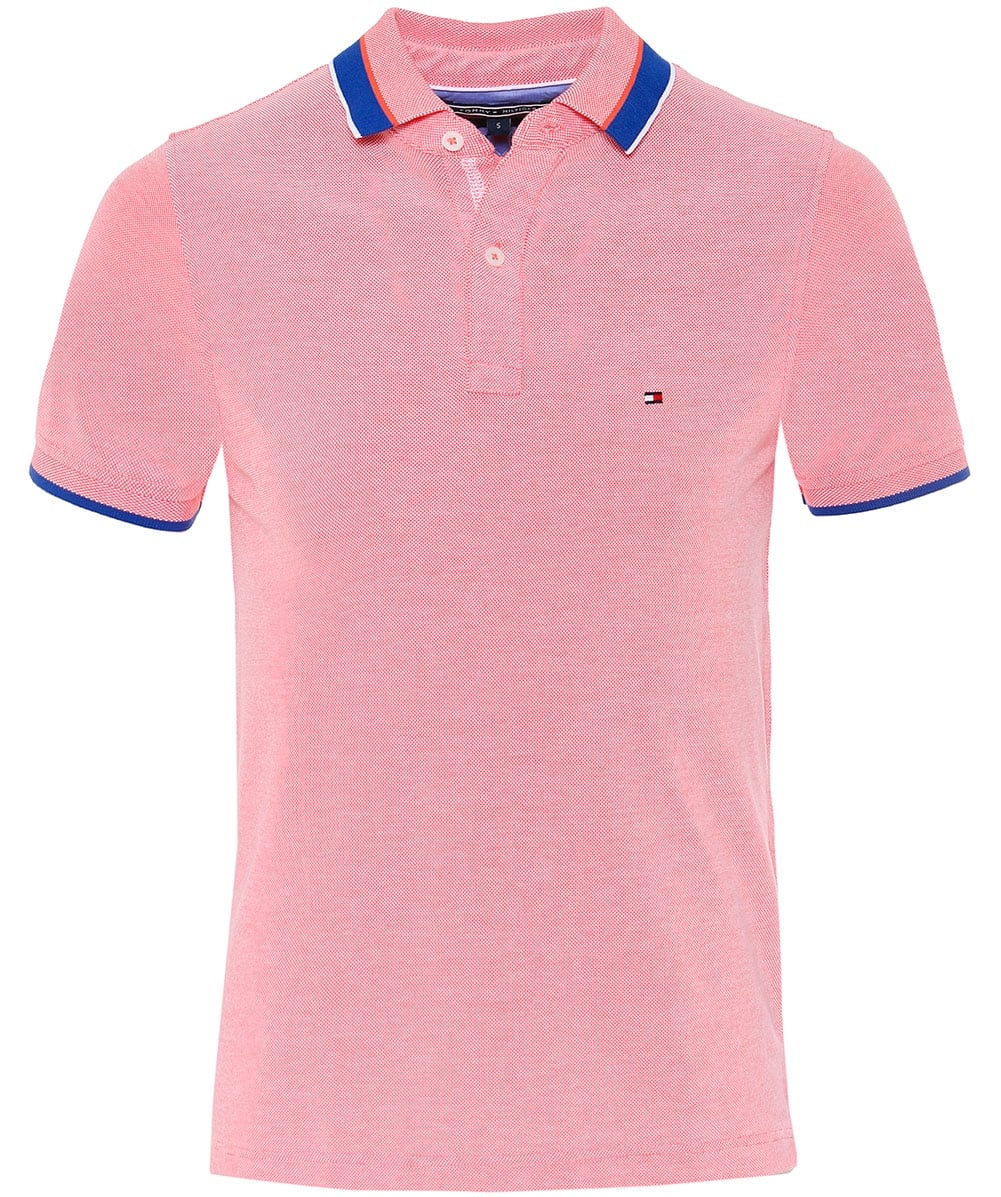 0492f134 Tommy Hilfiger Coral Slim Fit Oxford Cotton Polo Shirt | Jules B
