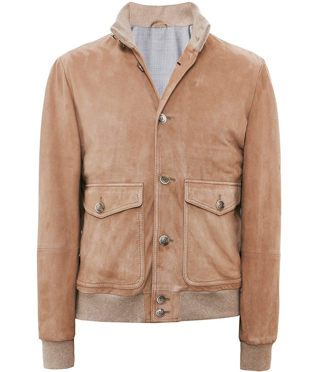 free delivery real deal 60% cheap Suede Bomber Jacket