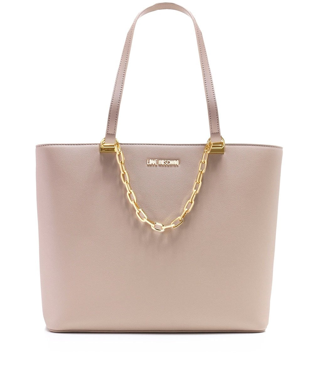d72d7fd3d96 Love Moschino Chain Detail Tote Bag