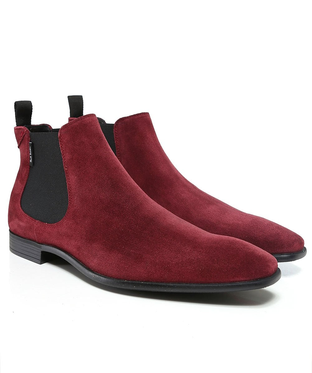 6c5a1538aec2 PS by Paul Smith Burgundy Suede Falconer Chelsea Boots