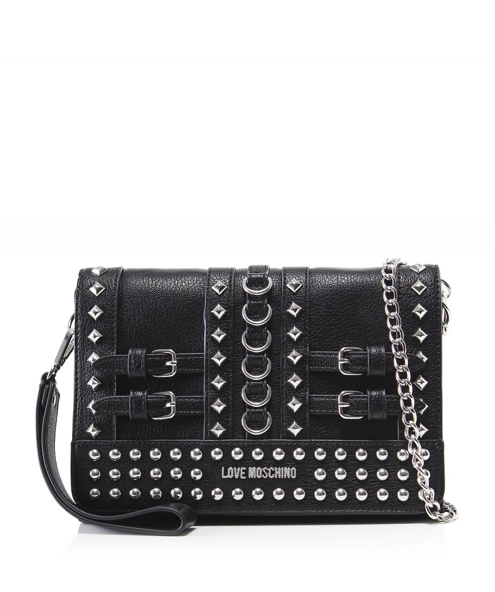 3f6301247d Love Moschino Women  039 s Studded Clutch Bag