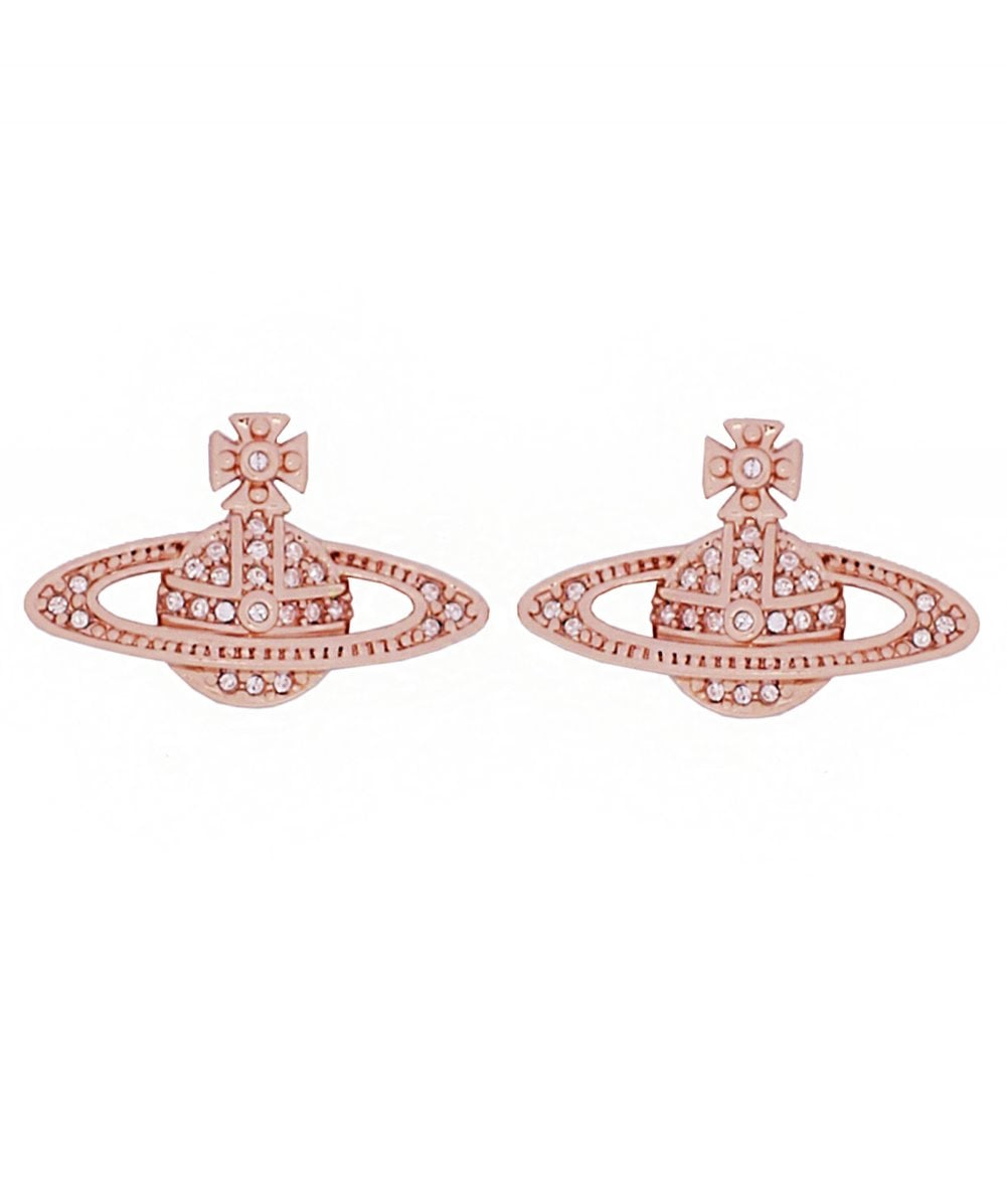7e90241db80 Vivienne Westwood Rose Gold Mini Bas Relief Earrings | Jules B