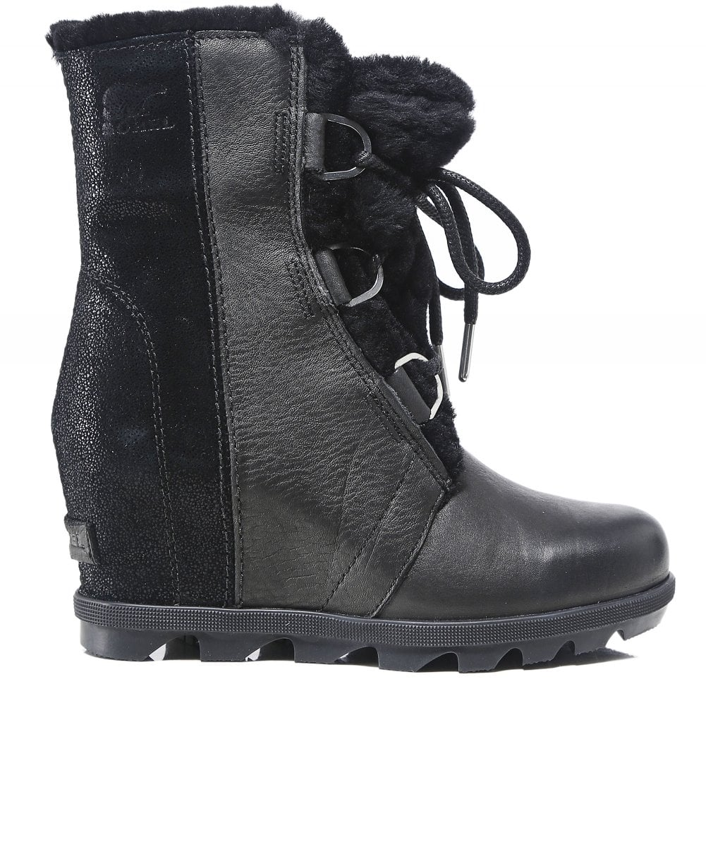 599c6c992bb Sorel Leather Women  039 s Joan of Arctic Wedge II Lux Shearling Boots