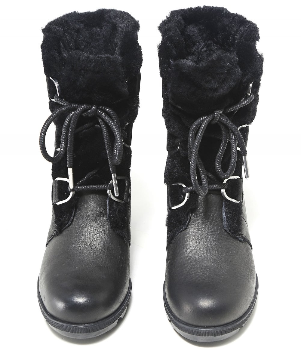 b0d165a0aa8e Sorel Leather Women  039 s Joan of Arctic Wedge II Lux Shearling Boots
