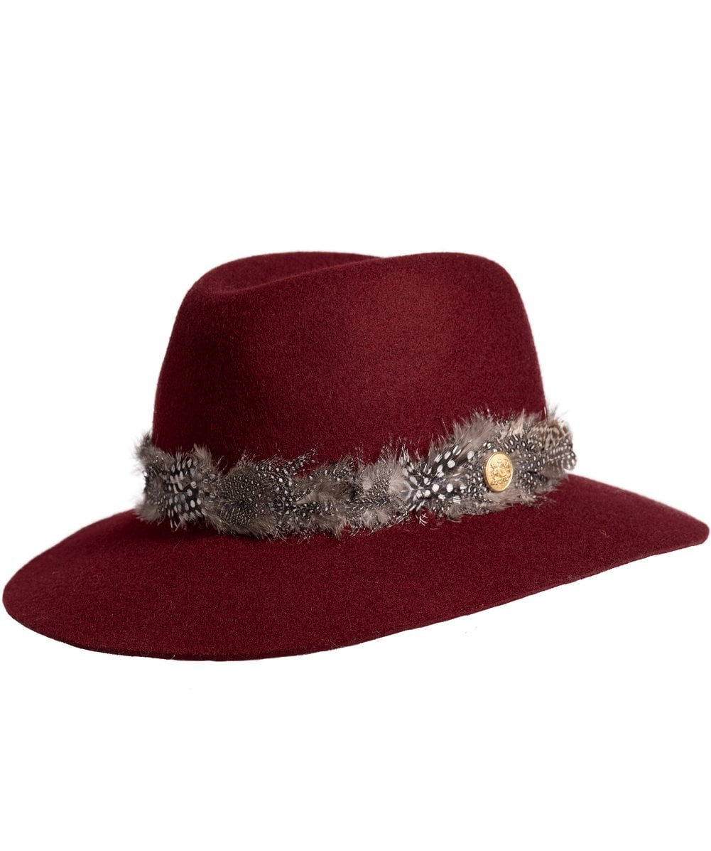 d311aded Holland Cooper Purple Grayson Trilby Hat with Feather Band | Jules B
