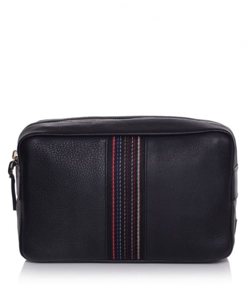 City Webbing Leather Wash Bag