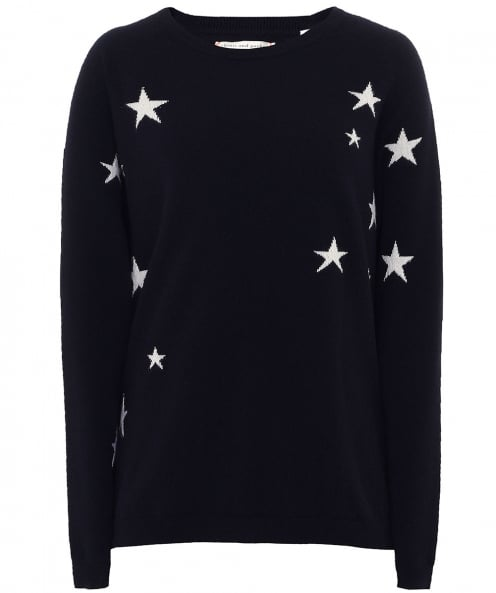 Chinti & Parker Cashmere Slouchy Star Jumper