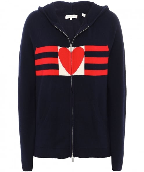 Chinti & Parker Cashmere Love Heart Hoodie
