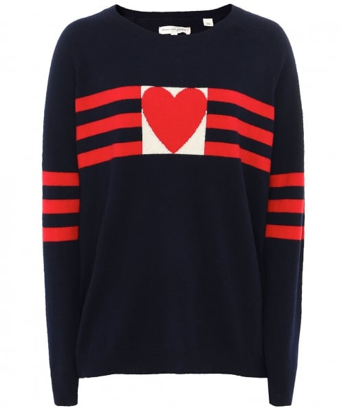 Chinti & Parker Cashmere Love Heart Jumper