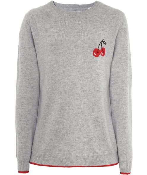 Chinti & Parker Cashmere Cherry Motif Jumper
