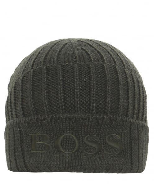 BOSS Orange Virgin Wool Blend Fenno Beanie Hat