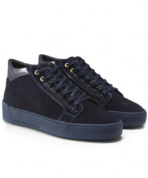 Android Homme Suede Mid-Top Propulsion Trainers