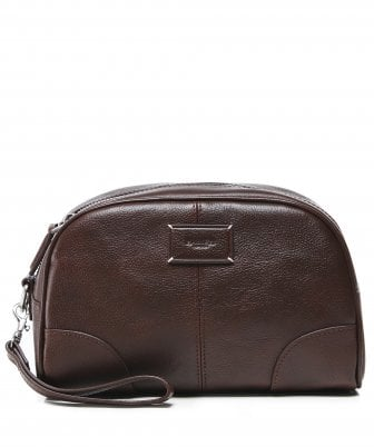 541132ae094a Hackett Men s Leather Foxley Wash Bag