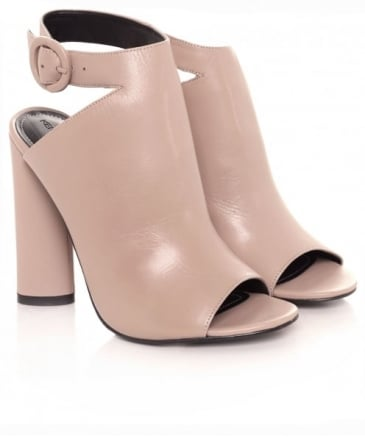 Gigi Leather Ankle Strap Heels