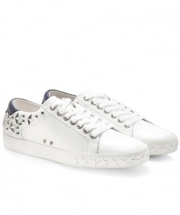 Leather Dazed Studded Trainers