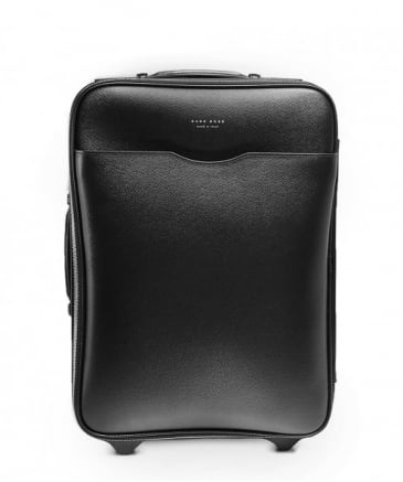 Leather Signature_Trolley Cabin Bag