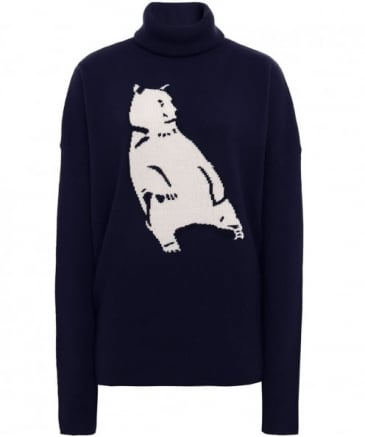 Wool Intarsia Polar Bear Jumper