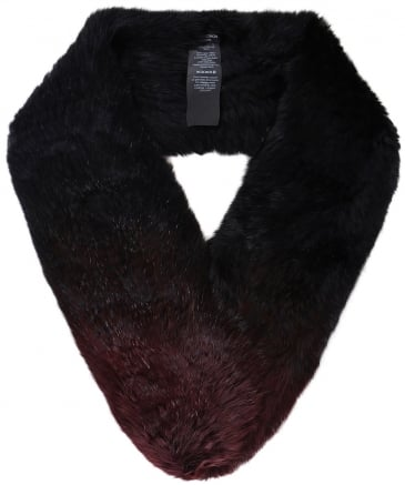Ombre Knitted Fur Loop Scarf
