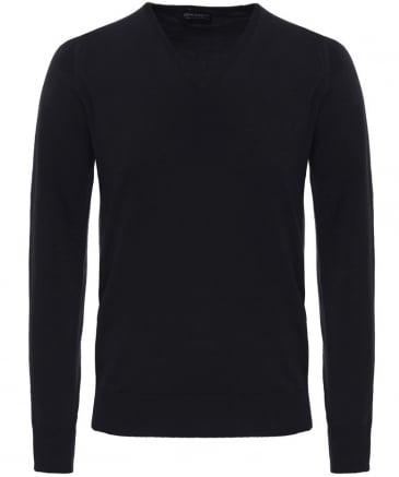 Merino Wool V-Neck Bobby Jumper