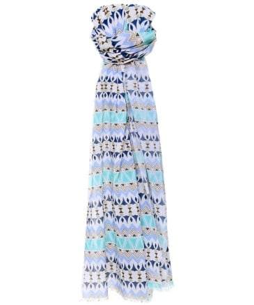 Geometric Pattern Cotton Scarf