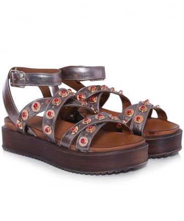 Cross Over Studded Sandals
