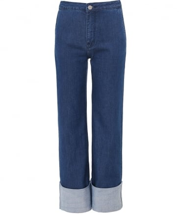 Chambray Cuff Jeans