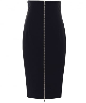 Zip Through Pencil Skirt