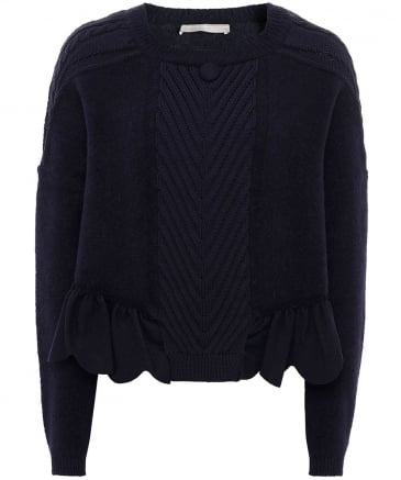 Wool Bronte Cable Knit Jumper