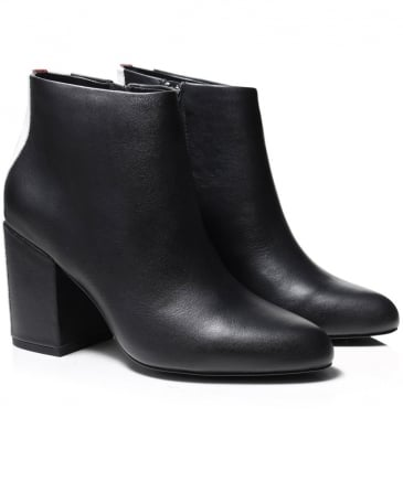 Leather Jensen Contrast Stripe Boots