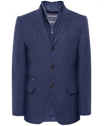 Virgin Wool Padded Blazer Jacket