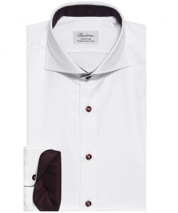 Fitted Contrast Trim Shirt