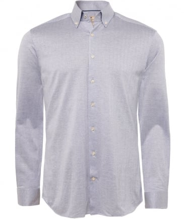 Slim Fit Knitted Herringbone Shirt