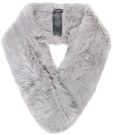 Knitted Fur Loop Scarf