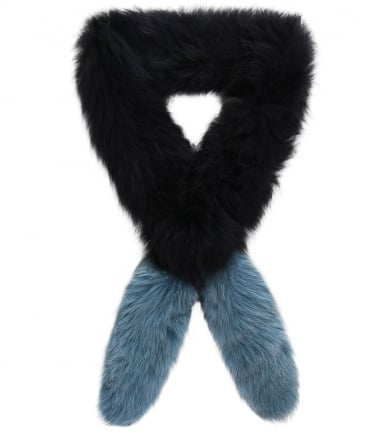 Fur Long Island Popsicle Tip Scarf