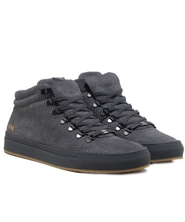 Leather Jhay Cab Lizard Trainers