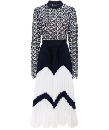 Azaelea Pleated Crochet Dress