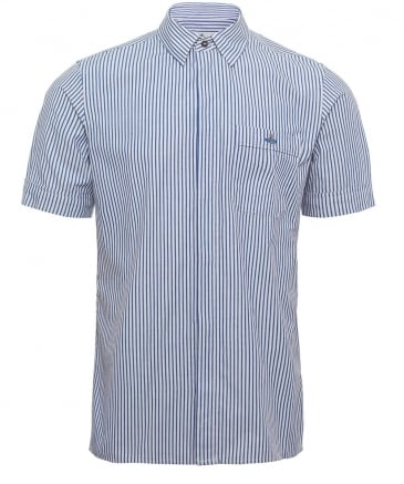 Short Sleeve Hickory Stripe Shirt