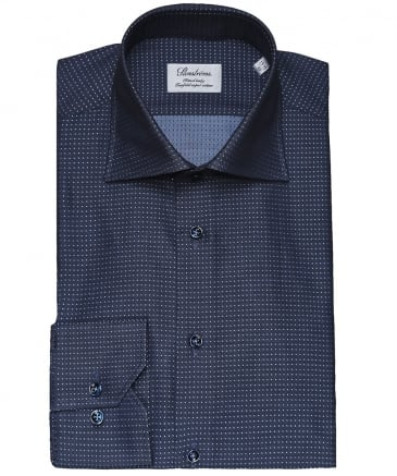 Fitted Body Polka Dot Shirt
