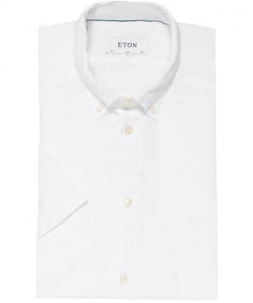 Slim Fit Short Sleeve Linen Shirt