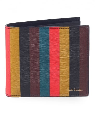 Leather Artist Stripe Billfold Wallet