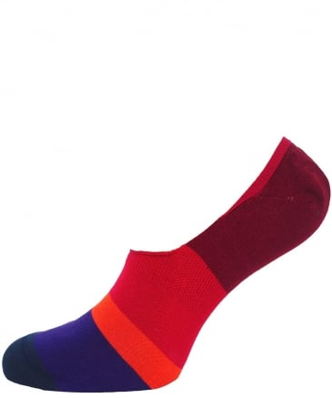 Block Stripe Loafer Socks