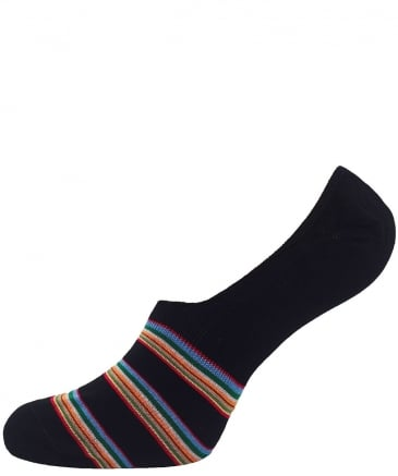 Multi-Stripe Block Loafer Socks