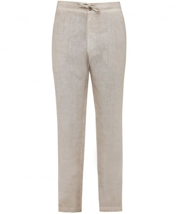 Linen Drawstring Trousers