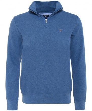 Pique Cotton Half-Zip Jumper