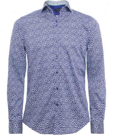 Slim Fit Leaf Print Shirt