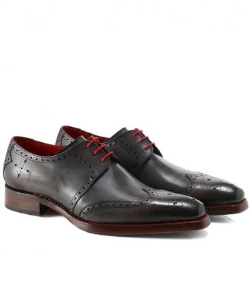 Leather Bay Dexter Wing-Tip Shoes