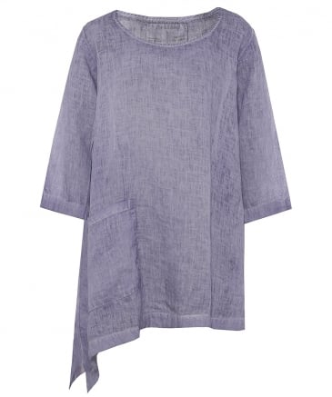 Washed Linen Asymmetric Tunic
