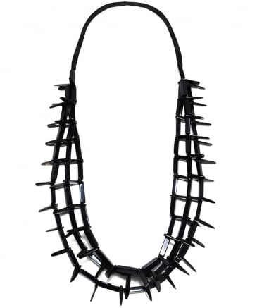 Long Horn Effect Spike Necklace