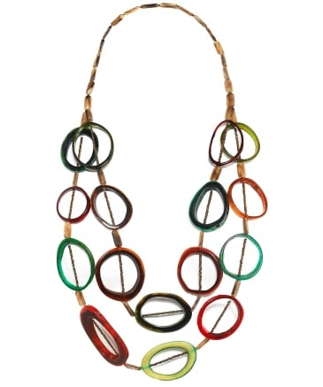 Horn Effect Multi Strand Necklace