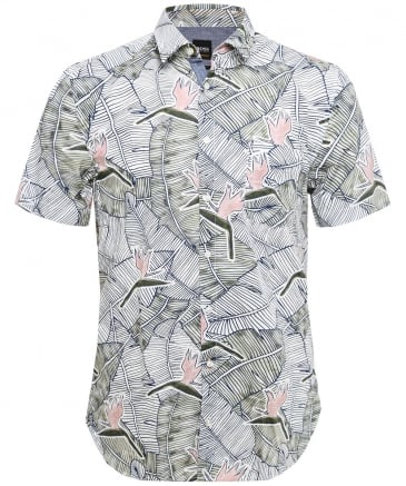 Slim Fit Cattitude_1-short Printed Shirt